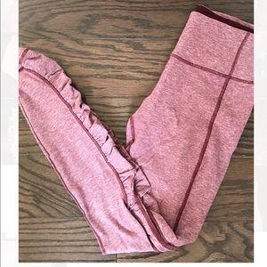 Lululemon red cinched leggings